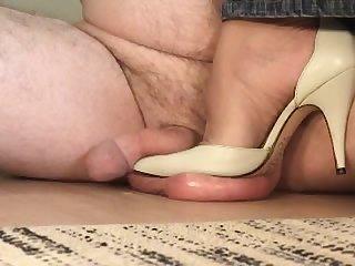 Pointy white heels cbt