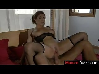 Italian milf whore mature fucks