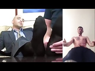 Poppers trening 1 sniff feet Macho slave hard socks