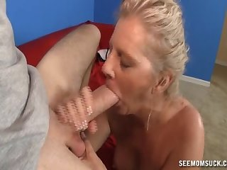 Milf serena sucks on david s perfect cock