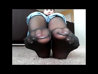 Black nylon soles and french toes