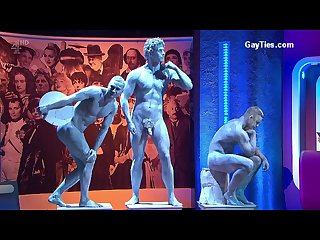 Naked men on public tv