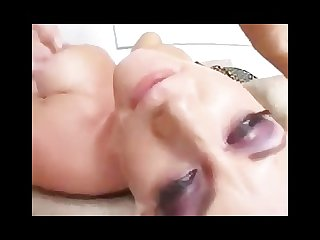 White girl throat fucked hard by big black cocks