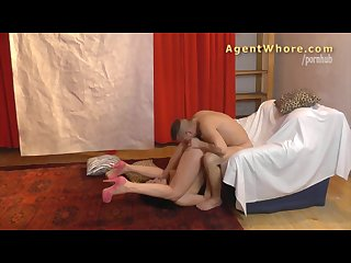 Reverse casting sexy milf tests a guy s licking skills