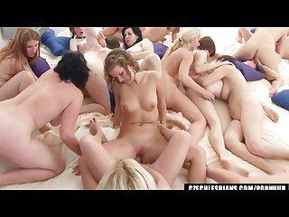 Hardcore largest lesbian orgy worldwide