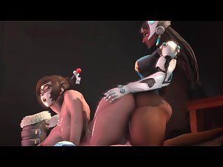 Overwatch Futa 60FPS - Futa Symmetra x Mei Doggy Style