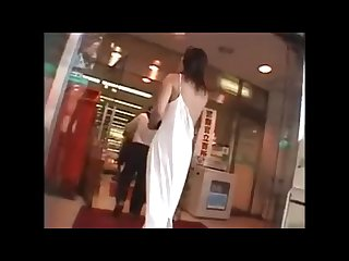 Japanese naked girl Shopping in the store