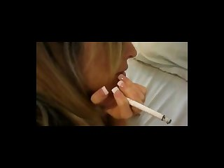 Smoking slut gets fucked in the ass