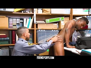 Youngperps sexy black teen shoplifter gets big thick dick from horny cop
