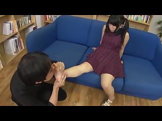 Young japanese footjob