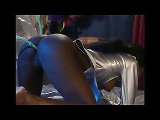 Nice girl ebony take enema