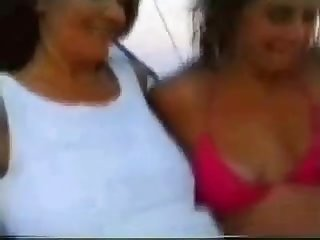 Mother and daughter sucking strangers after party in a spain beach part 1