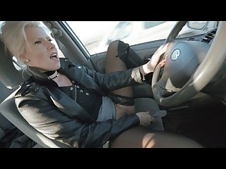Amateur real public car masturbation during the ride