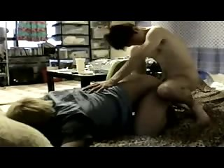 Two boys fucking with creampie