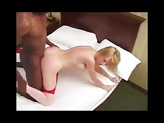 Creampie on blonde milf