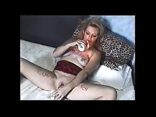 Dirty English slut karen self torture wank and piss drinking