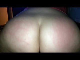 POV Bubble Butt white girl rides dick