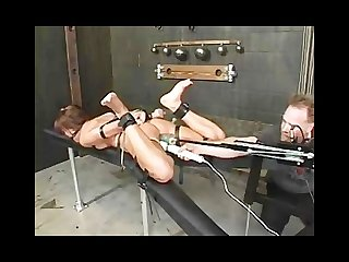 Holly wellin hog tied and fucked wild
