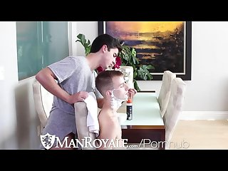 Hd manroyale shaving time gets steamy for young Twinks