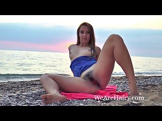 In the ocean alya shon plays naked and gets wet