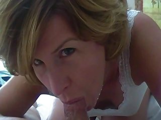 Cory deepthroat in white