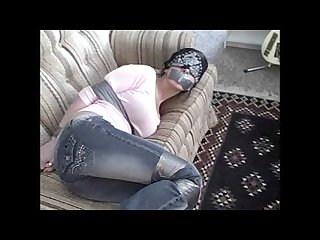 Blindfold tape gagged