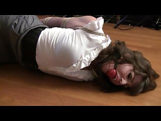 Elizabeth andrews hogtied and Ballgagged