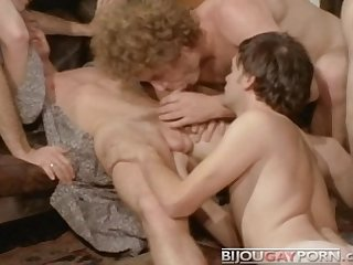Rough Vintage Gay Orgy from BALLET DOWN THE HIGHWAY (1975)