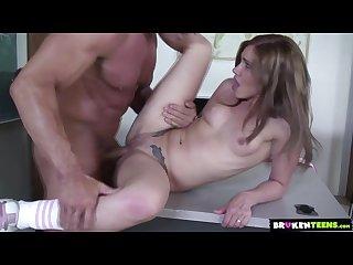 Dakota Spreads Her Bubble Butt Cheeks For Her Teacher\'s Big Dick