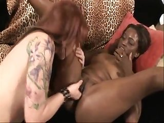KYLIE IRELAND AND MONIQUE INTERRACIAL LESBIANS