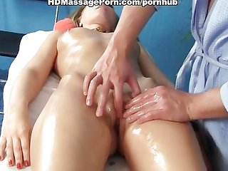 Massage session with hardcore sex