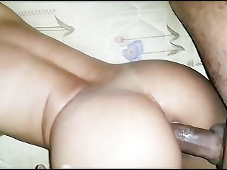 An arab girl having fun with a black dick
