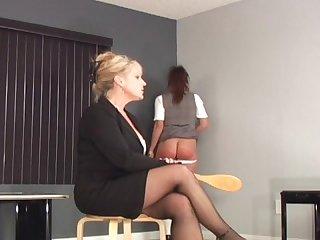 Severe hairbrush spanking