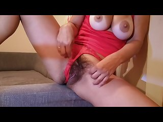 Hot hairy milf masturbate with banana
