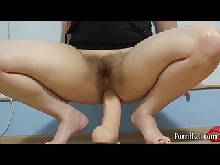 Anal fisting and a large dildo in the ass