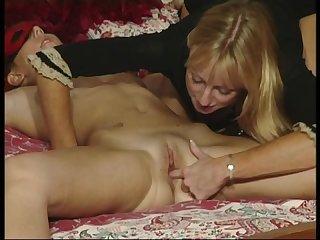 Hardcore lesbian fun with british blonde milfs