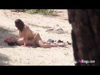 Voyeur and nudist session with alba and a stranger