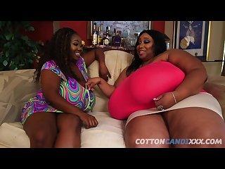Bbbw huge tits lesbians