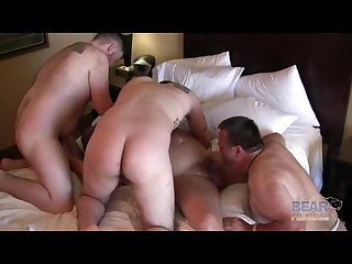 Hairy and raw group fuck