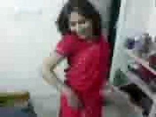 Www roshnidixit in college girl on red Saree sex with boyfriend at home