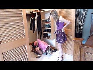 Sara is cruel shocked in closet