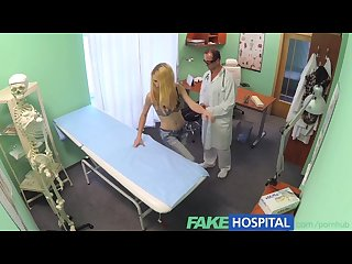 Fakehospital doctors oral massage gives skinny blonde her first orgasm in y
