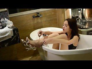 Bondage in elegant lingerie