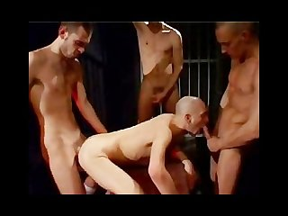 4 horny guys fucking and Moaning