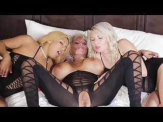 Sexy milf Sally get special attention by two younger beauties