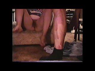 Crackwhore fat pig slut takes piss and cum