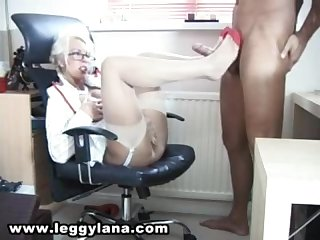 Ll sexy secretary footjob