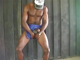 Latin hung black boy jerking off astudillo Latino stud