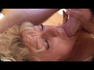 Mature dutch blonde