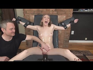 Hot naked tied oiled tickled vibed tortured